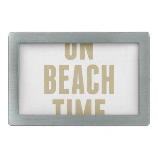 On Beach Time Belt Buckle