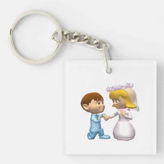 On Bended Knee Single-Sided Square Acrylic Key Ring