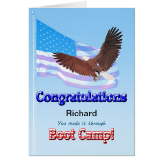 On completing Boot Camp Greeting Card