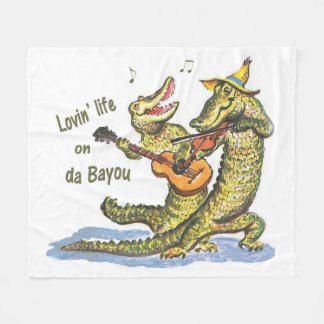 On da Bayou Fleece Blanket
