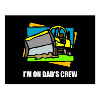 On Dads Crew Postcard