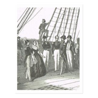 On deck, naval vessel 1800s postcard