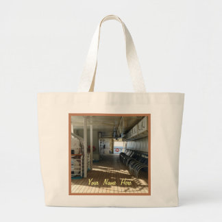 On Deck of Cruise Ship Personalized Jumbo Tote Bag