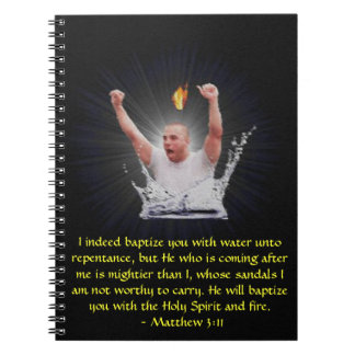 On Fire For Christ Baptism Notebook