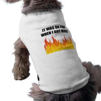 On Fire When Got Here Sleeveless Dog Shirt