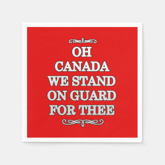 On Guard Canada Day Party Paper Napkins Disposable Serviette