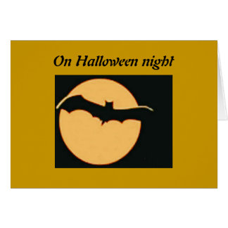 On Halloween Night Greeting Card