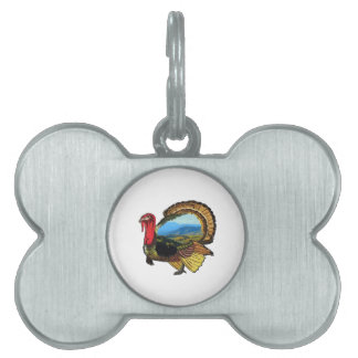 On Holiday Pet Name Tag