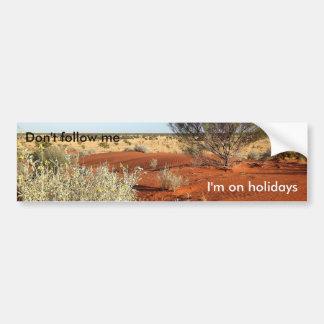On holidays funny bumper sticker