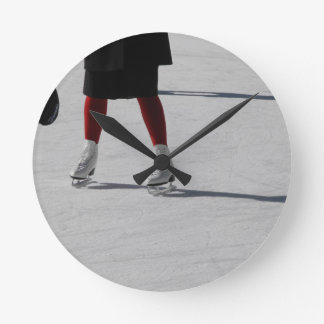 On Ice Round Clock