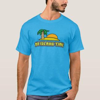 On island time palm tree beach shirt