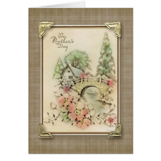 On Mother's Day Vintage Reproduction Card