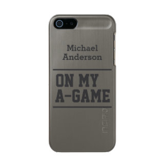 """On My A-Game"" custom name cases Incipio Feather® Shine iPhone 5 Case"