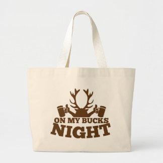 on my bucks night canvas bag
