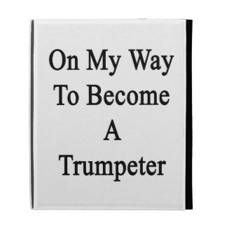On My Way To Become A Trumpeter iPad Case