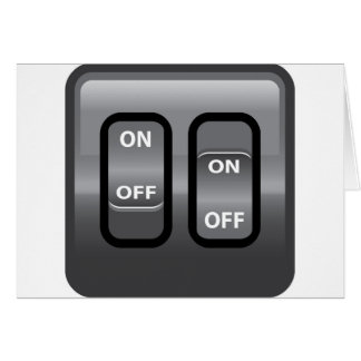 On Off Switch Card