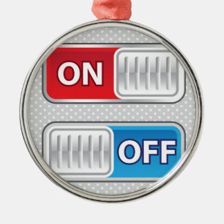 On Off Switch Web style Metal Ornament