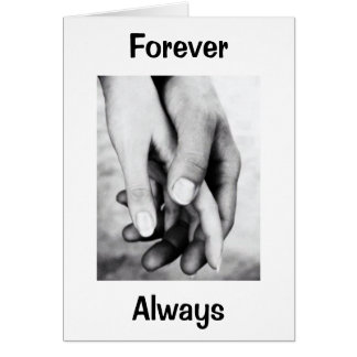 ON OUR WEDDING DAY-HOLD MY HAND FOREVER ALWAYS GREETING CARD