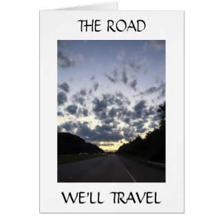 ON OUR WEDDING DAY-THE ROAD WE'LL TRAVEL GREETING CARD