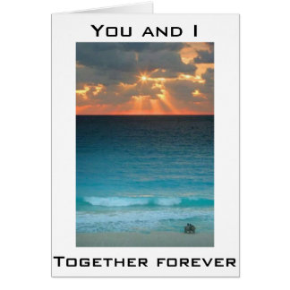 ON OUR WEDDING DAY-TOGETHER FOREVER GREETING CARD
