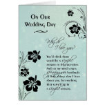On Our Wedding Day ~ Why do I love you Greeting Card