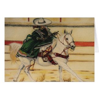 """On Parade"" equine card"