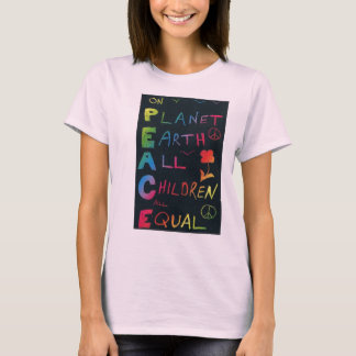 On Planet Earth All Children are Equal - Rainbow T-Shirt