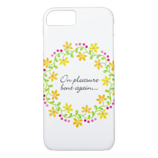 On pleasure bent again - Austen Pride & Prejudice iPhone 7 Case