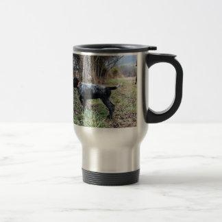 On point puppy travel mug