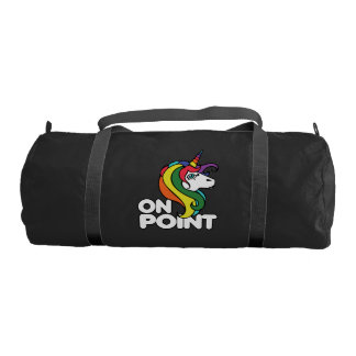 On Point retro rainbow unicorn Gym Bag