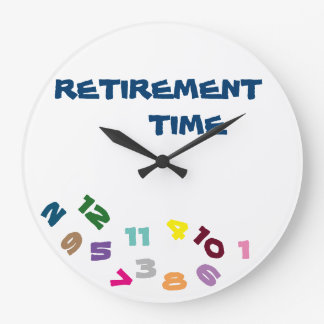 """""""ON ***RETIREMENT TIME***"""" WITH THIS COOL CLOCK"""