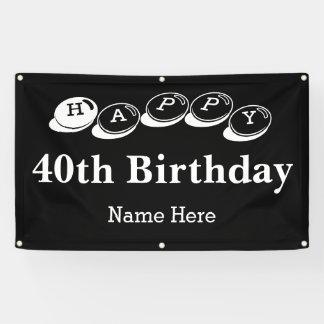 On Sale Happy 40th Birthday Banner