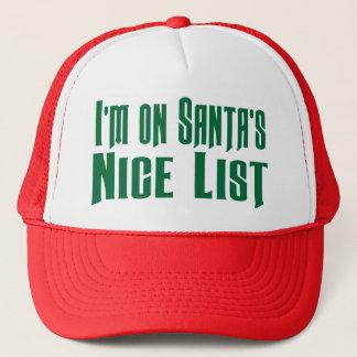 On Santa's Nice List Funny Trucker Hat