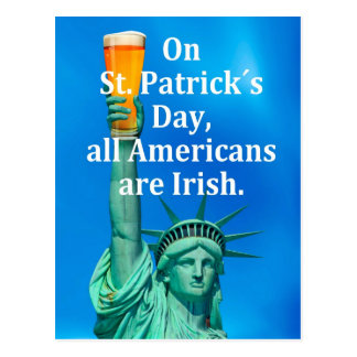 """""""On St. Patrick´s Day, all Americans are Irish"""" Postcards"""