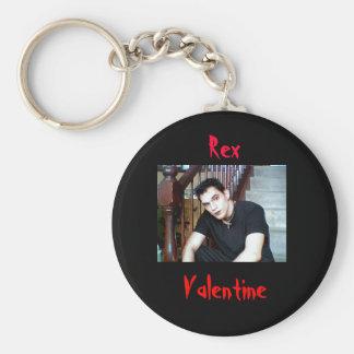 On stairs,  Rex, Valentine, Valentine Basic Round Button Key Ring
