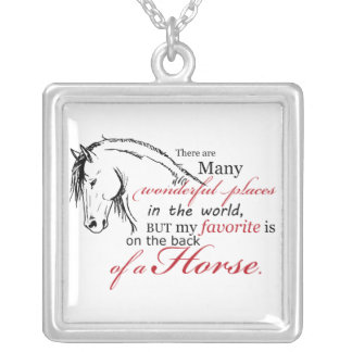 On the Back of a Horse Silver Plated Necklace