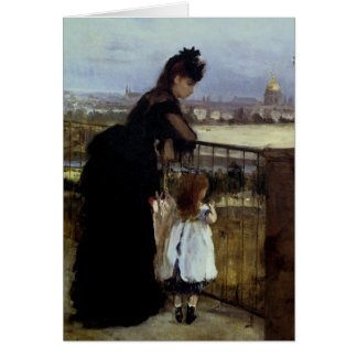On The Balcony by Berthe Morisot Card
