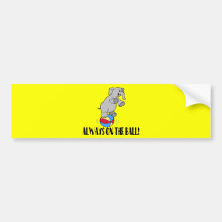 On The Ball Elephant Bumper Sticker