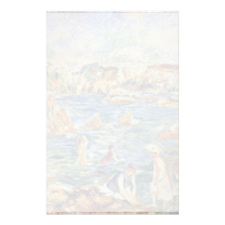 On The Beach In Guernsey By Pierre-Auguste Personalized Stationery