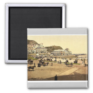 On the beach, Llandudno, Wales rare Photochrom Square Magnet