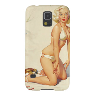On the Beach Retro Pin-up Girl Case For Galaxy S5