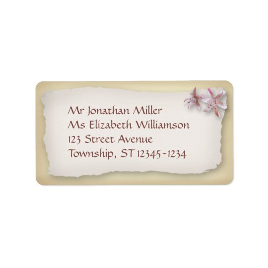 On the Beach Wedding Labels