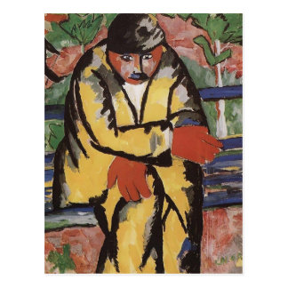 On the Boulevard  by Kazimir Malevich Postcard