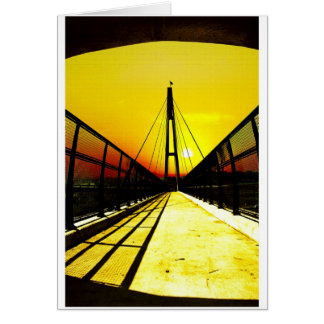 On The Bridge Greeting Cards