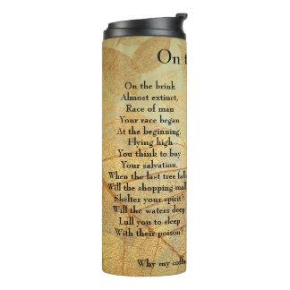 On the Brink Poem Thermal Tumbler