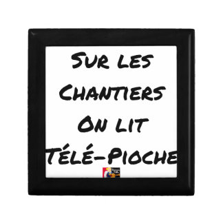 ON the BUILDING SITES ONE READS TÉLÉ-PIOCHE - Word Gift Box