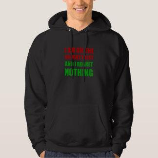 On The Christmas Santa Naughty List Regret Nothing Hoodie