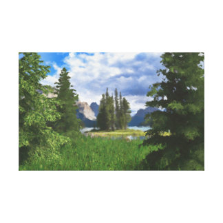 On the clearing digitally handpainted canvas print
