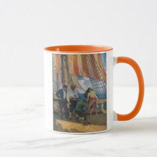 On the Deck of a Galleon Beneath a Striped Sail Mug