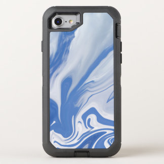 On the edge of a Dream. Blue & White Clouds OtterBox Defender iPhone 8/7 Case